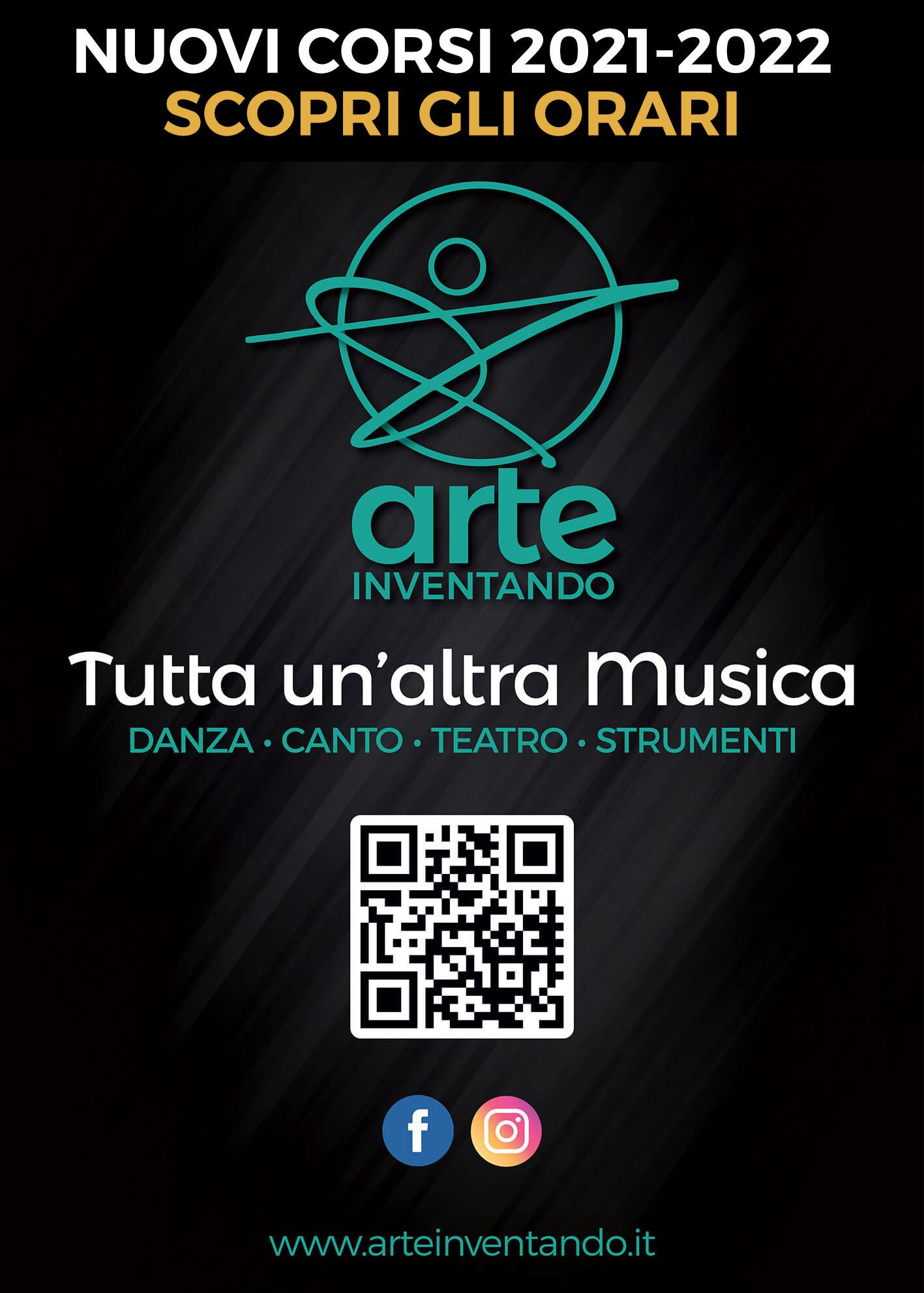Nuovi corsi 2021-22 di corsi di danza, musica, canto e recitazione di ArteInventando